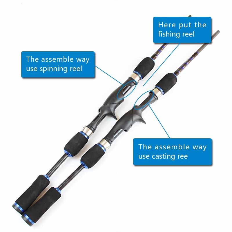 Casting Spinning Carbon Firber Fishing Rods 2.1m 1.8m 8 sections fishing rod travel pole one rod Two Use way fishing tackle (8)