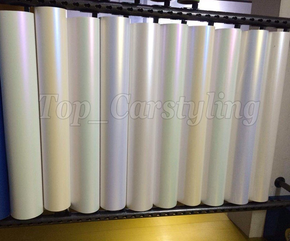 chameleon Pearlescent Matte white blue shiny Pearl matt Film Car wrap vinyl Foil 3M APA ARLON PEARL SATIN styling graphic(5)