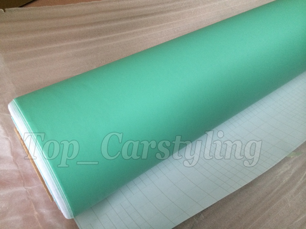 Matte tiffany blue mint green vinyl car wrapping film 3m satin white car wrap Film Foile (3)