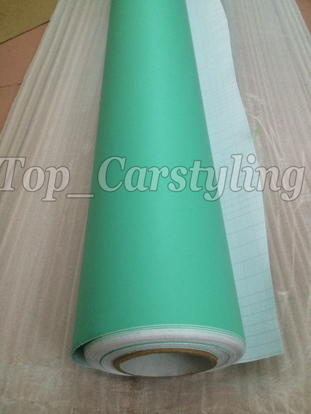 Matte tiffany blue mint green vinyl car wrapping film 3m satin white car wrap Film Foile (4)