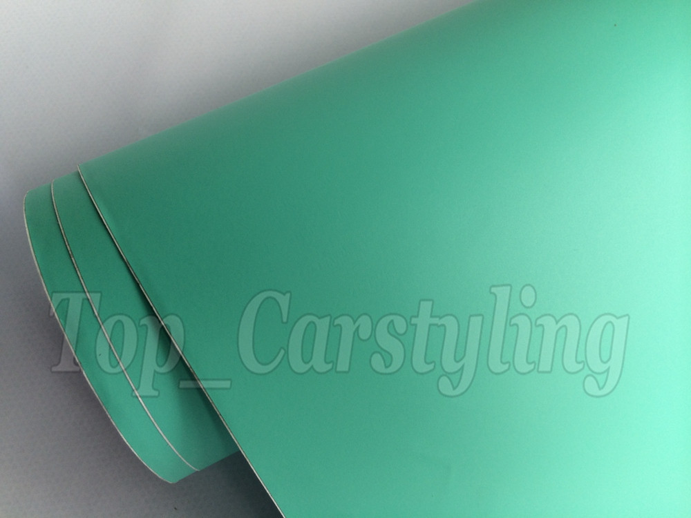 Matte tiffany blue mint green vinyl car wrapping film 3m satin white car wrap Film Foile (2)