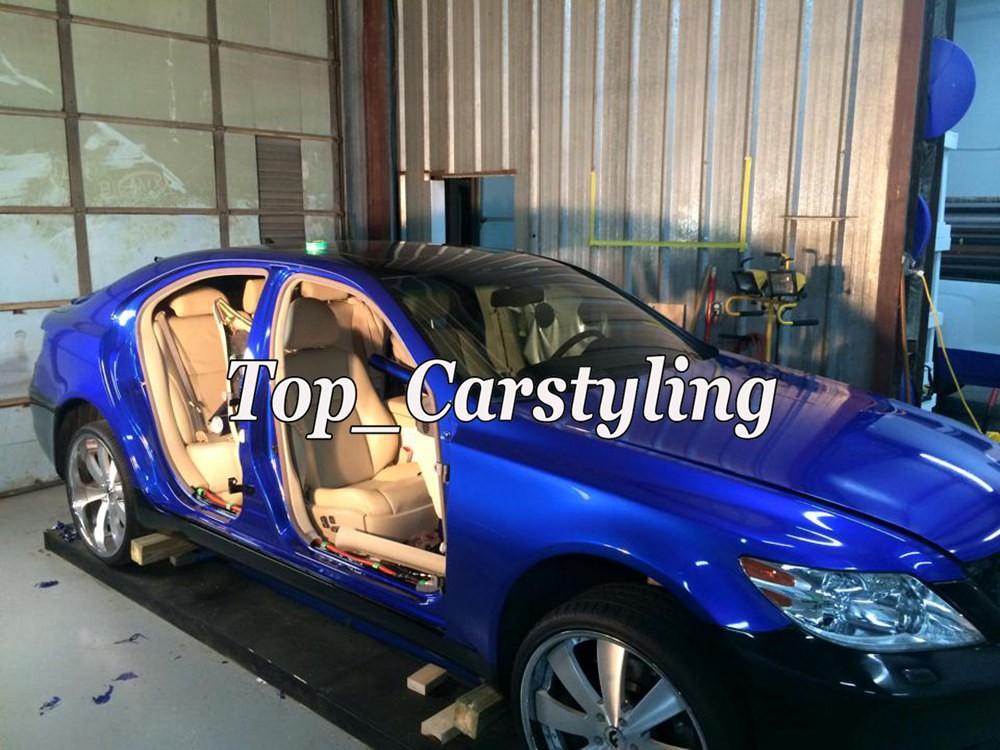 candy glossy blue metallic deep blue Shiny Car wrapping film (3)