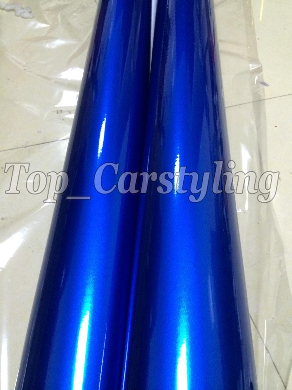 candy glossy blue metallic deep blue Shiny Car wrapping film (7)