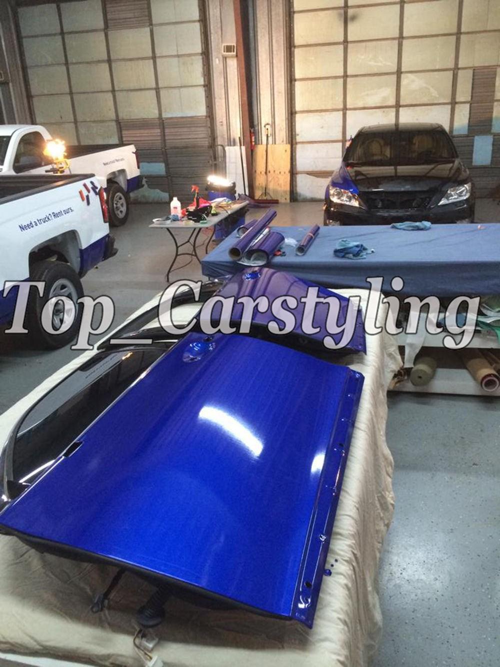candy glossy blue metallic deep blue Shiny Car wrapping film (1)