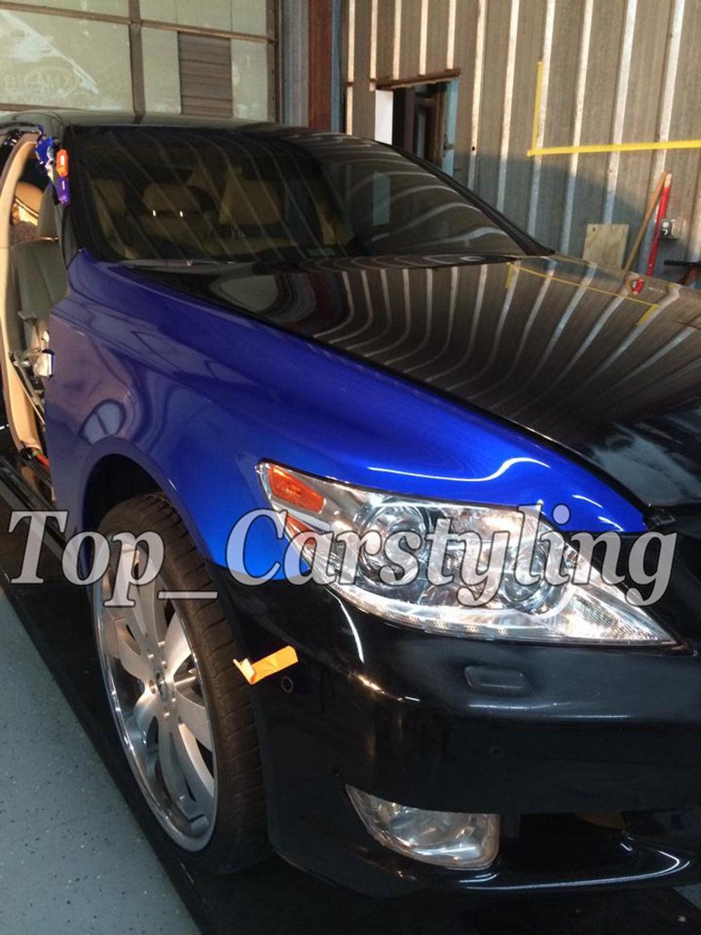 candy glossy blue metallic deep blue Shiny Car wrapping film (2)