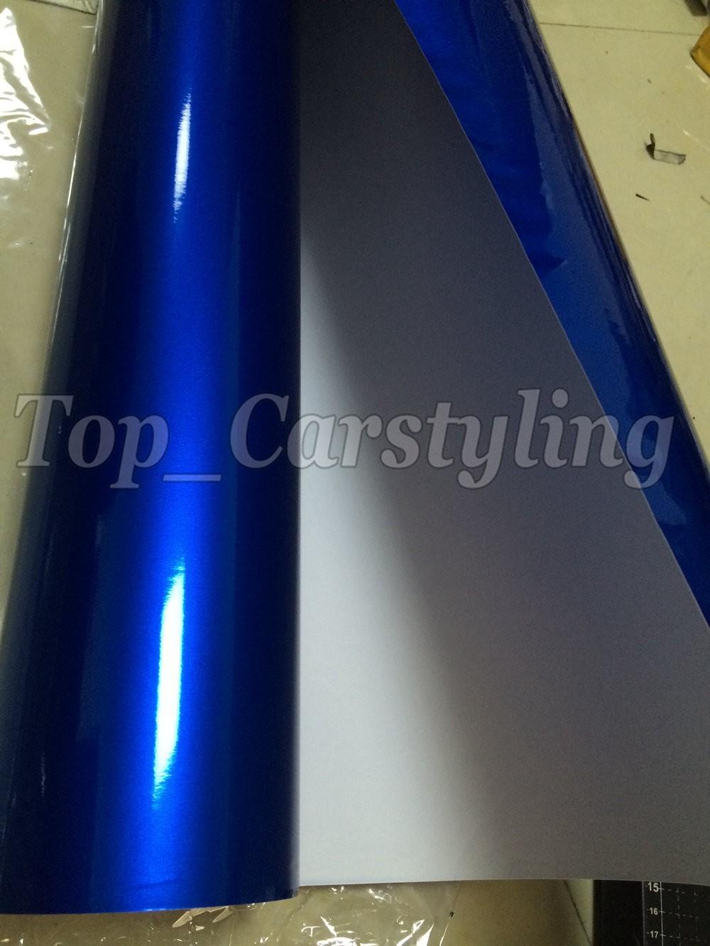 candy glossy blue metallic deep blue Shiny Car wrapping film (6)