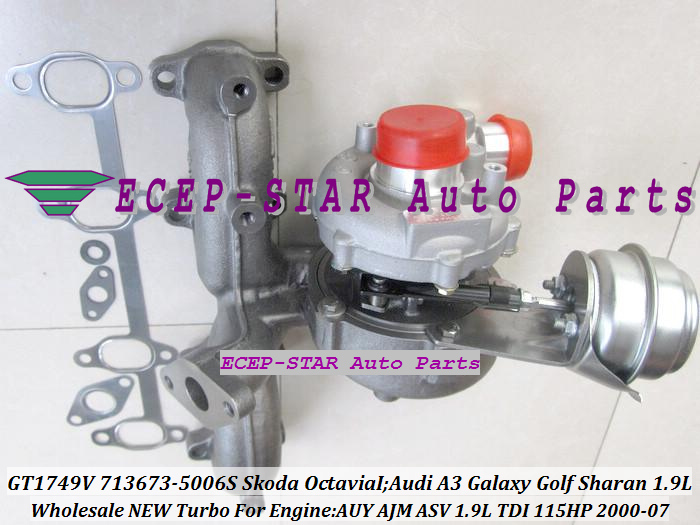 GT1749V 713673 713673-5006S 038253019D Turbo Turbocharger Fit for Skoda Octavia I 2000-2007;Audi A3 Galaxy Golf Sharan 1.9L TDI AUY AJM ASV 115HP (6)