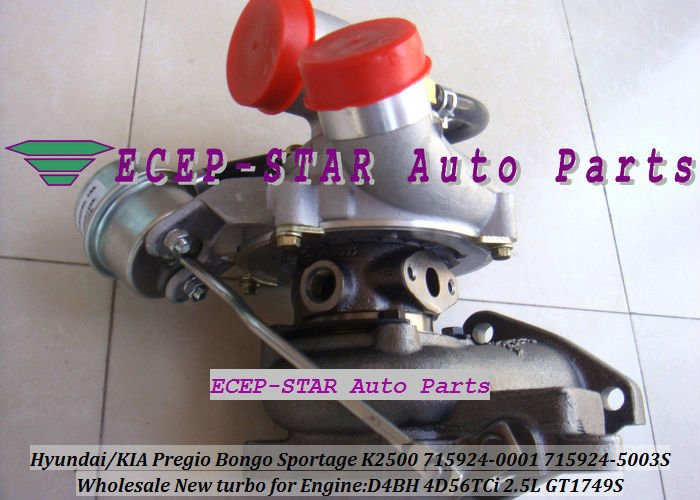 GT1749S 715924-0001 715924-5003S HYUNDAIKIA Pregio Bongo Sportage K2500 D4BH 4D56TCi 2.5L turbocharger (2)