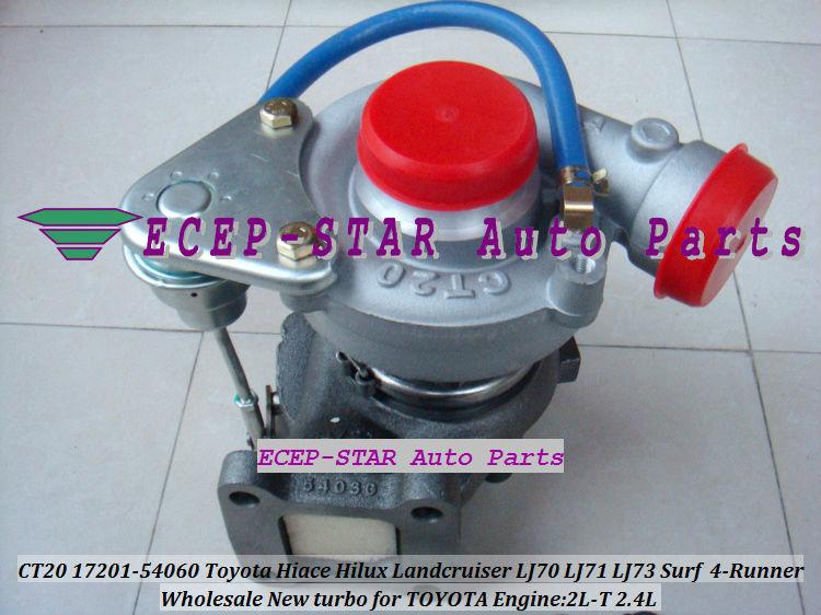 CT20 17201-54060 Toyota Hiace Hilux Landcruiser LJ70 LJ71 LJ73 Surf 4-Runner 2.4L 2L-T Turbocharger (4)