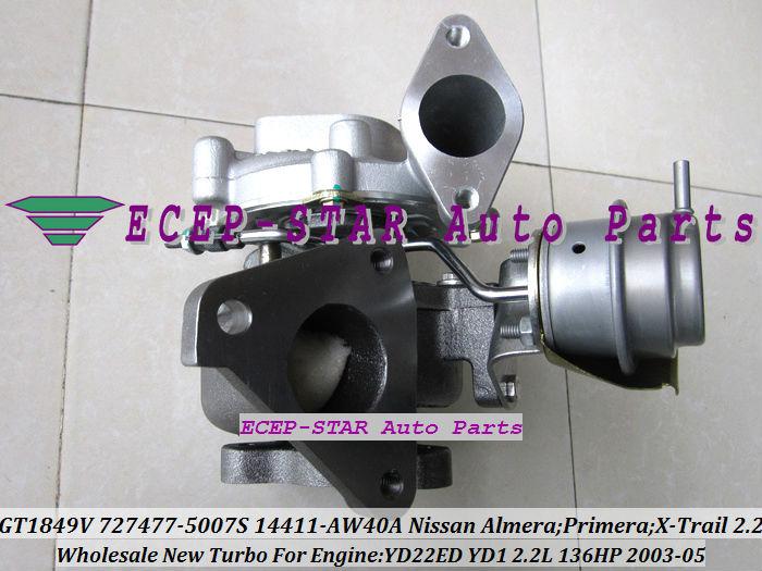 GT1849V 727477-5007S 727477 14411-AW40A Nissan Almera;Primera;X-Trail T30 2003-05 YD22ED YD1 2.2L 136HP Turbocharger (1)