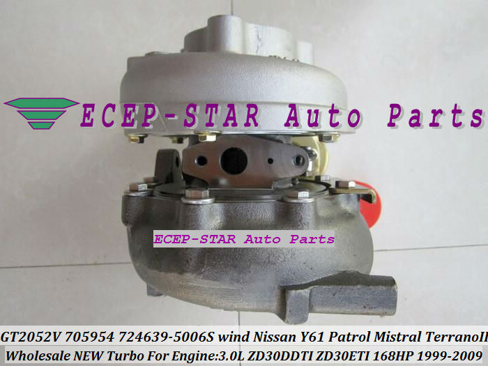 GT2052V 705954-0015 724639-5006S Wind Cooled For NISSAN Y61 Patrol Mistral Terrano II 1999 3.0L ZD30DDTI ZD30ETI 168HP turbocharger (1)