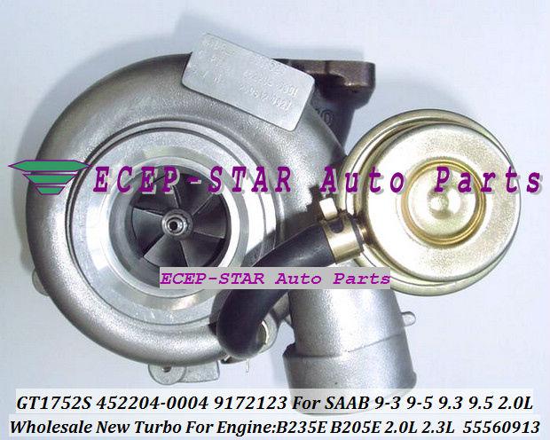 NEW GT1752S 452204-0004 55560913 9172123 TURBINE TURBO Turbocharger For SAAB 9-3 9-5 9.3 9.5 Engine B235E B205E 2.0L 2.3L
