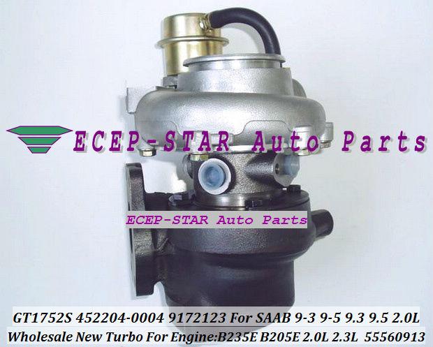 NEW GT1752S 452204-0004 55560913 9172123 TURBINE TURBO Turbocharger For SAAB 9-3 9-5 9.3 9.5 Engine B235E B205E 2.0L 2.3L (3)