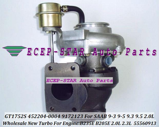 NEW GT1752S 452204-0004 55560913 9172123 TURBINE TURBO Turbocharger For SAAB 9-3 9-5 9.3 9.5 Engine B235E B205E 2.0L 2.3L (1)