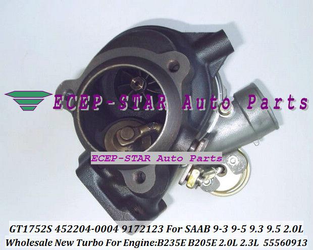 NEW GT1752S 452204-0004 55560913 9172123 TURBINE TURBO Turbocharger For SAAB 9-3 9-5 9.3 9.5 Engine B235E B205E 2.0L 2.3L (2)