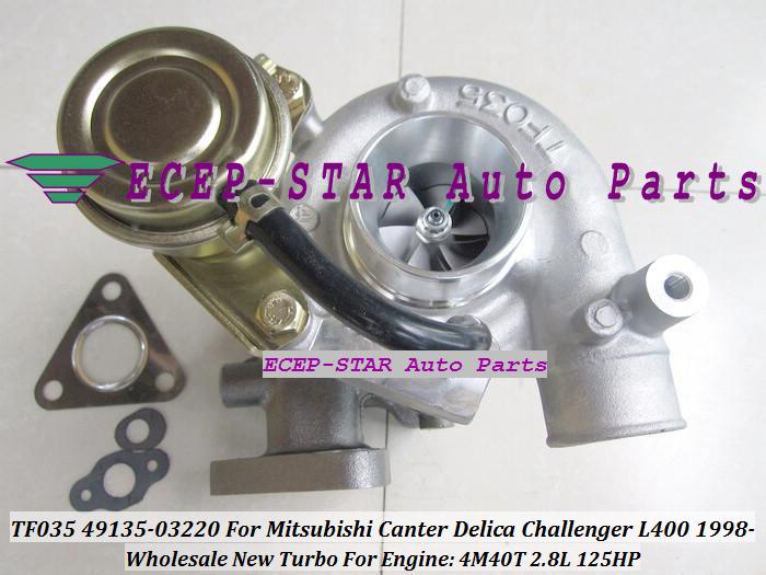 TF035 49135-03220 Turbocharger For MITSUBISHI Canter Delica L400 1998- 4M40 2.8L 125HP