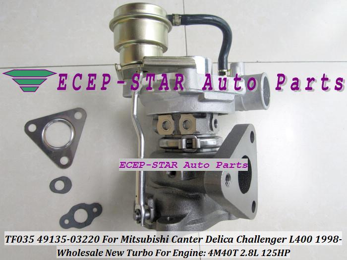 TF035 49135-03220 Turbocharger For MITSUBISHI Canter Delica L400 1998- 4M40 2.8L 125HP (1)
