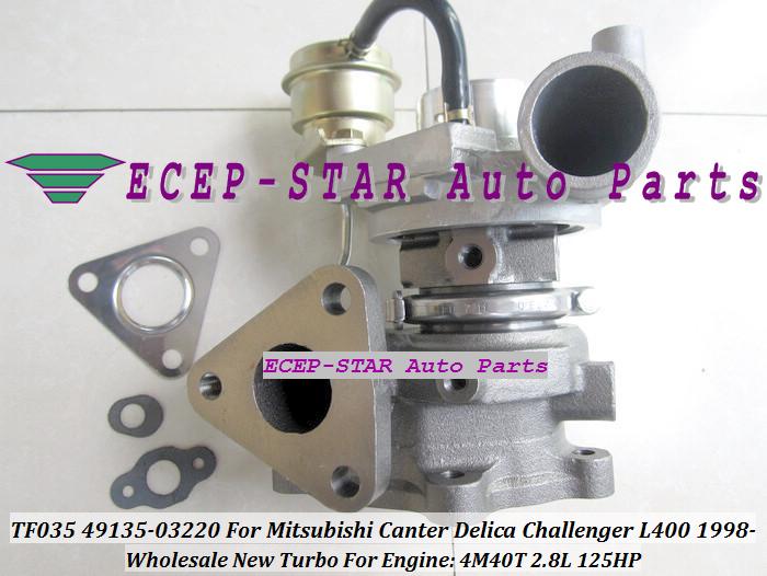 TF035 49135-03220 Turbocharger For MITSUBISHI Canter Delica L400 1998- 4M40 2.8L 125HP (4)