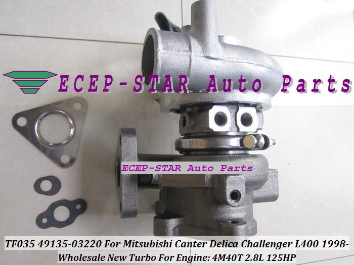TF035 49135-03220 Turbocharger For MITSUBISHI Canter Delica L400 1998- 4M40 2.8L 125HP (3)