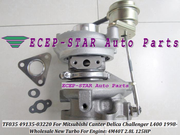 TF035 49135-03220 Turbocharger For MITSUBISHI Canter Delica L400 1998- 4M40 2.8L 125HP (2)