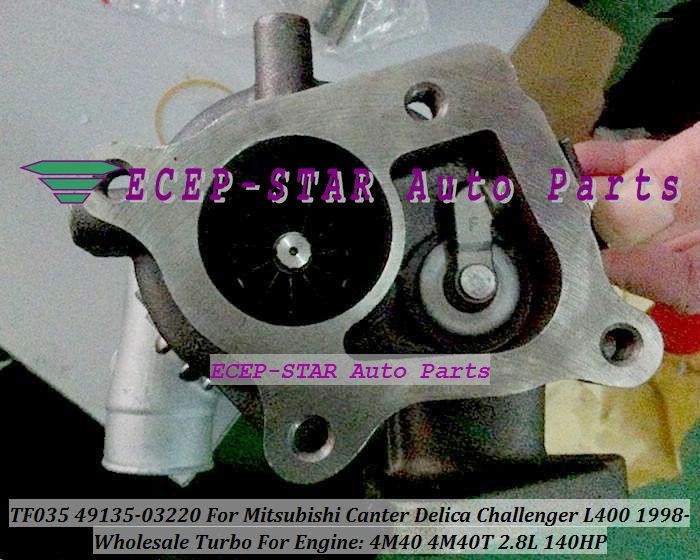TF035 49135-03220 Turbocharger For MITSUBISHI Canter Delica L400 1998- 4M40 2.8L 125HP - (6)
