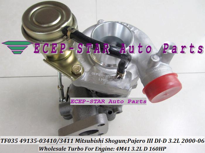 TF035 49135-03411 49135-03410 ME203949 ME191474 Turbo Turbocharger For Mitsubishi Shogun Pajero III 2000- 4M41 3.2L D 160HP (7)