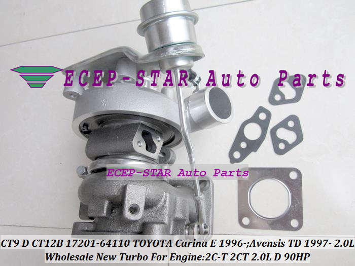 CT9 CT12B 17201-64110 1720164110 Turbo Turbocharger For TOYOTA Carina E 1996-;Avensis TD 1997- Engine 2C-T 2CT 2.0L D 90HP (4)
