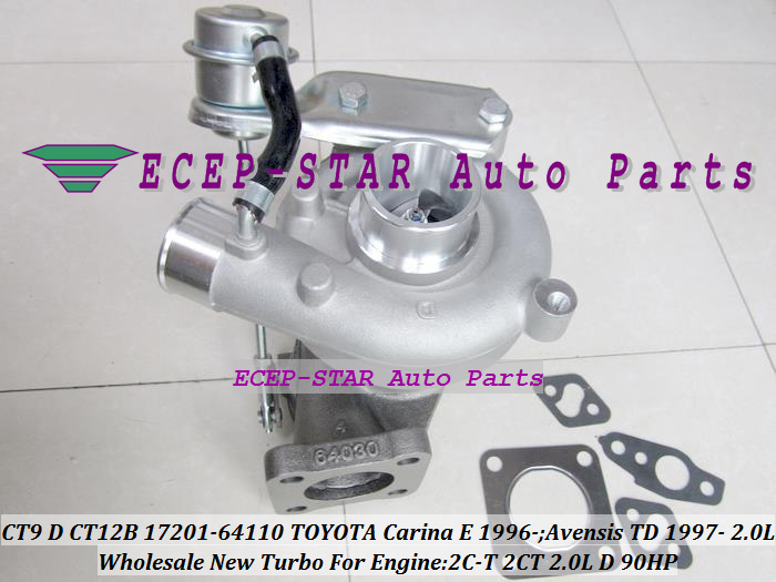 CT9 CT12B 17201-64110 1720164110 Turbo Turbocharger For TOYOTA Carina E 1996-;Avensis TD 1997- Engine 2C-T 2CT 2.0L D 90HP (6)