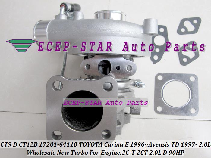 CT9 CT12B 17201-64110 1720164110 Turbo Turbocharger For TOYOTA Carina E 1996-;Avensis TD 1997- Engine 2C-T 2CT 2.0L D 90HP (2)