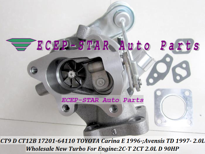 CT9 CT12B 17201-64110 1720164110 Turbo Turbocharger For TOYOTA Carina E 1996-;Avensis TD 1997- Engine 2C-T 2CT 2.0L D 90HP (5)
