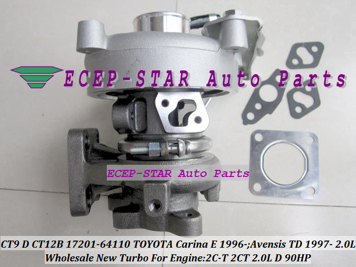 CT9 CT12B 17201-64110 1720164110 Turbo Turbocharger For TOYOTA Carina E 1996-;Avensis TD 1997- Engine 2C-T 2CT 2.0L D 90HP (3)