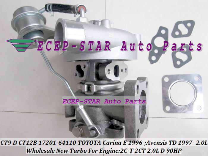 CT9 CT12B 17201-64110 1720164110 Turbo Turbocharger For TOYOTA Carina E 1996-;Avensis TD 1997- Engine 2C-T 2CT 2.0L D 90HP (1)