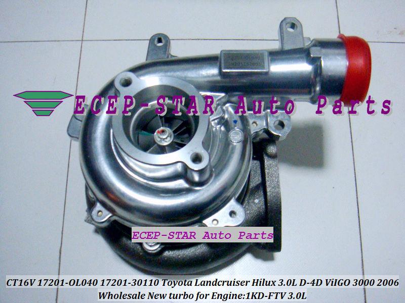 CT16V 17201-OL040 17201-0L040 Toyota Hilux 3.0LD ViIGO 3000 1KD-FTV turbo turbocharger (6)