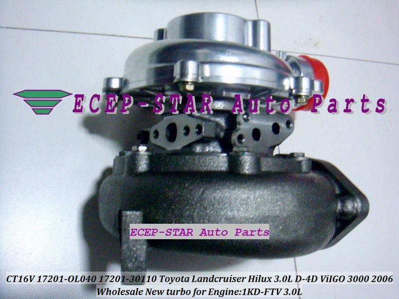 CT16V 17201-OL040 17201-0L040 Toyota Hilux 3.0LD ViIGO 3000 1KD-FTV turbo turbocharger (3)