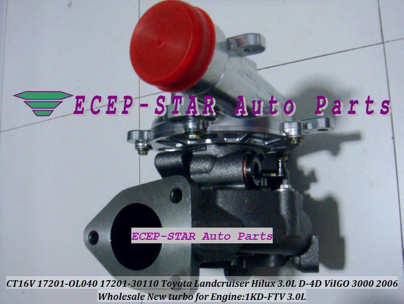 CT16V 17201-OL040 17201-0L040 Toyota Hilux 3.0LD ViIGO 3000 1KD-FTV turbo turbocharger (4)