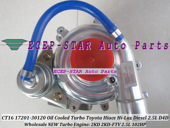 CT16 17201-30120 Turbo Turbine Turbocharger For Toyota Hiace Hi-Lux Diesel Engine 2KD-FTV 2.5L 102HP (6)