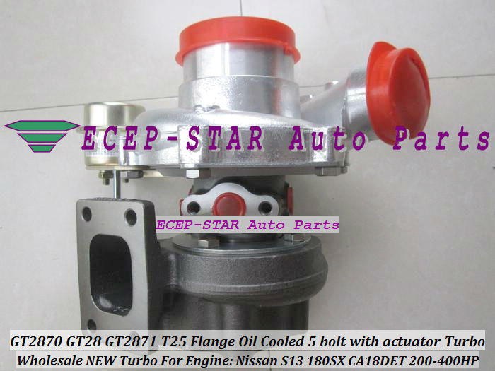 GT2870 GT28 GT2871 T25 Flange Oil Cooled 5 bolt with actuator Turbocharger For Nissan Engine S13 180SX CA18DET 200HP-400HP