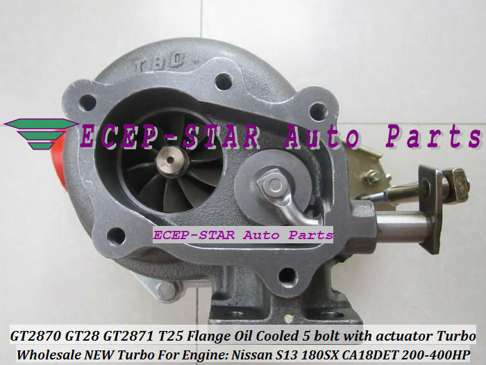 GT2870 GT28 GT2871 T25 Flange Oil Cooled 5 bolt with actuator Turbocharger For Nissan Engine S13 180SX CA18DET 200HP-400HP (4)