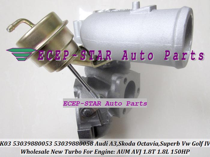 K03-053 058 K03 53039880053 53039880058 Turbocharger For Audi A3 SKODA Octavia Superb VW Volkswagen Golf IV 1.8T AUM AVJ 1.8L 150HP (4)