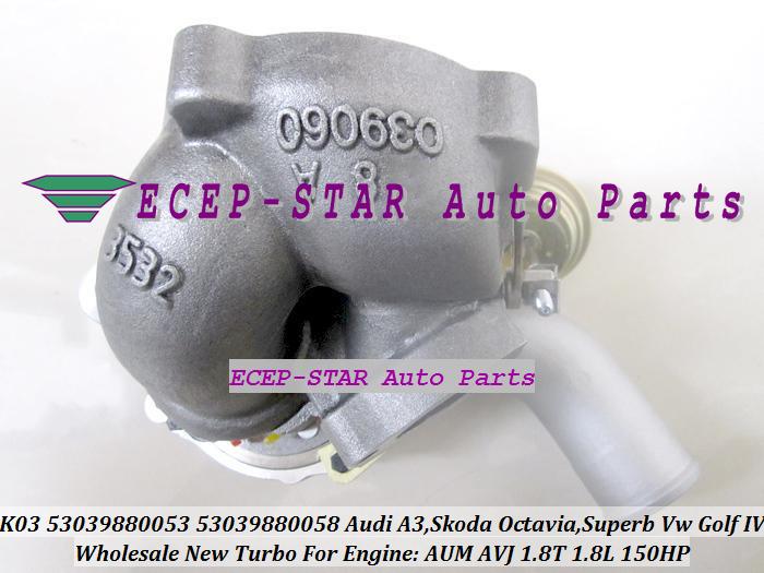 K03-053 058 K03 53039880053 53039880058 Turbocharger For Audi A3 SKODA Octavia Superb VW Volkswagen Golf IV 1.8T AUM AVJ 1.8L 150HP (3)