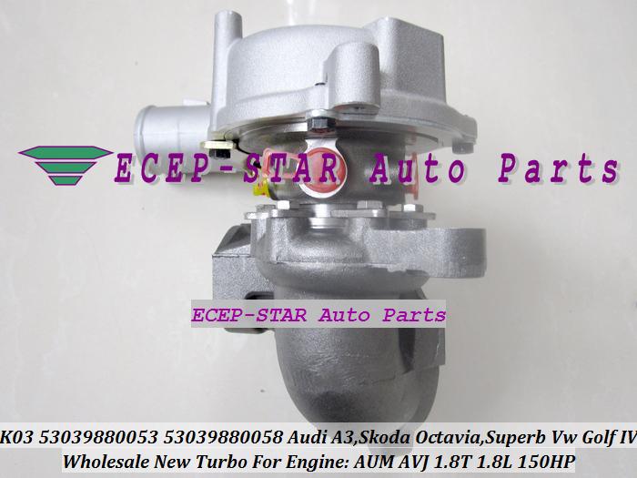 K03-053 058 K03 53039880053 53039880058 Turbocharger For Audi A3 SKODA Octavia Superb VW Volkswagen Golf IV 1.8T AUM AVJ 1.8L 150HP (1)