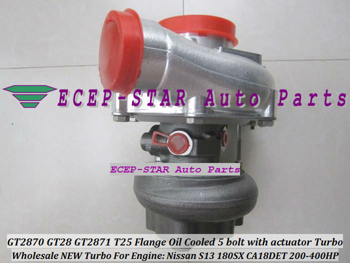GT2870 GT28 GT2871 T25 Flange Oil Cooled 5 bolt with actuator Turbocharger For Nissan Engine S13 180SX CA18DET 200HP-400HP (3)