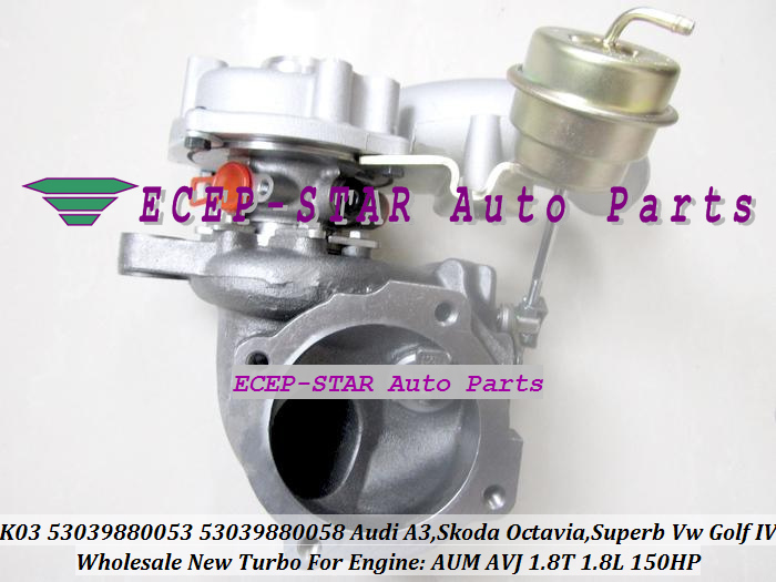 K03-053 058 K03 53039880053 53039880058 Turbocharger For Audi A3 SKODA Octavia Superb VW Volkswagen Golf IV 1.8T AUM AVJ 1.8L 150HP