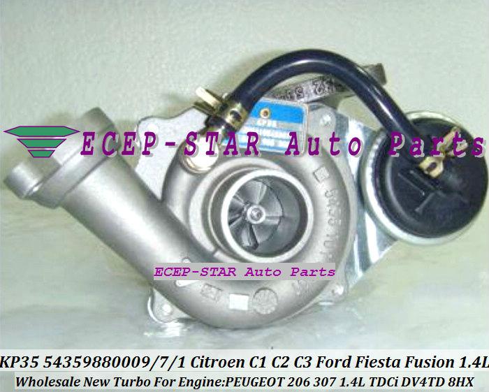 KP35 54359880009 54359880007 Turbocharger For Citroen C1 C2 C3 Xsara Ford Fiesta Fusion Mazda 2 PEUGEOT 206 307 1.4L TDCi DV4TD 8HX