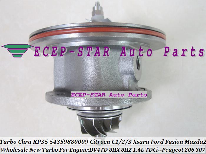 Turbo CHRA Cartridge Core KP35 54359880009 Citroen C1 C2 C3 Xsara Ford Fusion Mazda 2 PEUGEOT 206 307 1.4L TDCi DV4TD 8HX 8HZ (1)