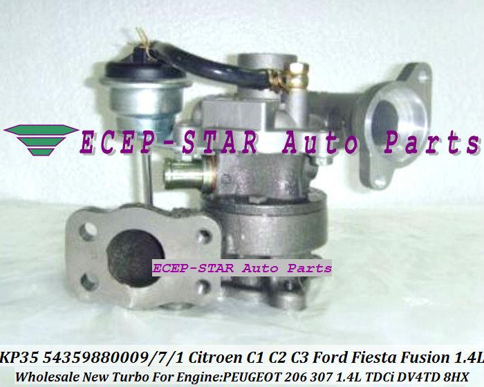 KP35 54359880009 54359880007 Turbocharger For Citroen C1 C2 C3 Xsara Ford Fiesta Fusion Mazda 2 PEUGEOT 206 307 1.4L TDCi DV4TD 8HX (1)