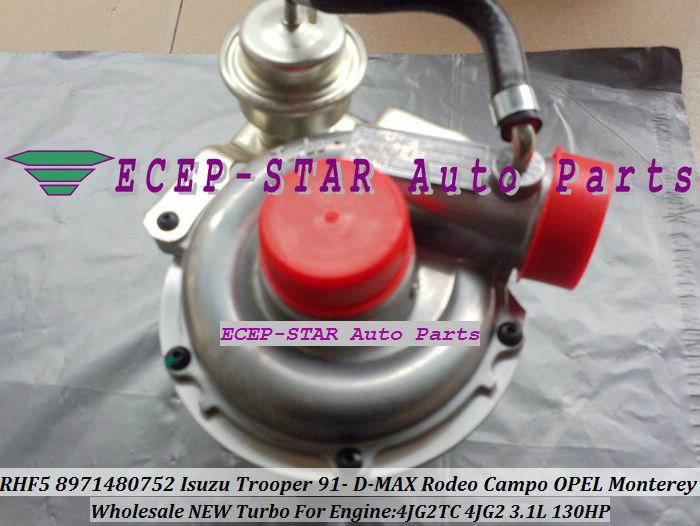 RHF5 8971480752 Turbo Turbocharger ISUZU Trooper 1991- D-MAX Rodeo Campo OPEL Monterey 4JG2TC 4JG2 3.1L (5)