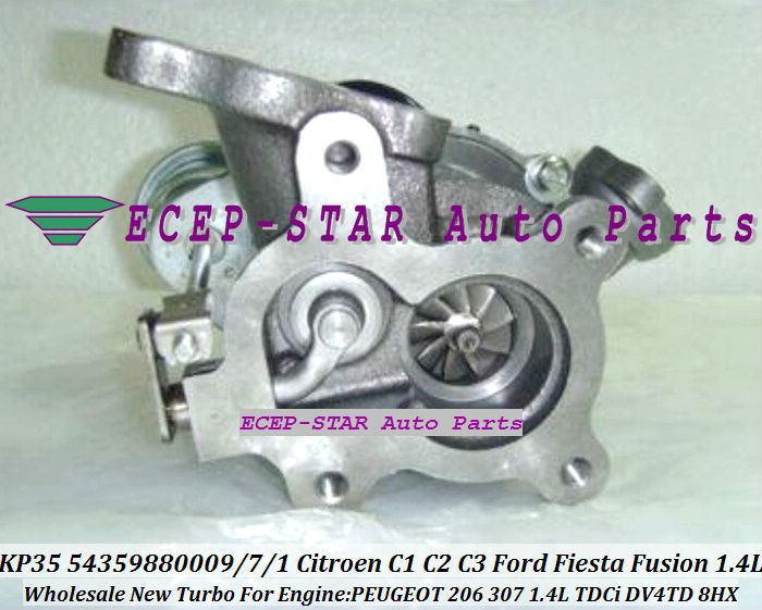 KP35 54359880009 54359880007 Turbocharger For Citroen C1 C2 C3 Xsara Ford Fiesta Fusion Mazda 2 PEUGEOT 206 307 1.4L TDCi DV4TD 8HX (2)