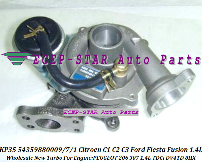 KP35 54359880009 54359880007 Turbocharger For Citroen C1 C2 C3 Xsara Ford Fiesta Fusion Mazda 2 PEUGEOT 206 307 1.4L TDCi DV4TD 8HX (3)