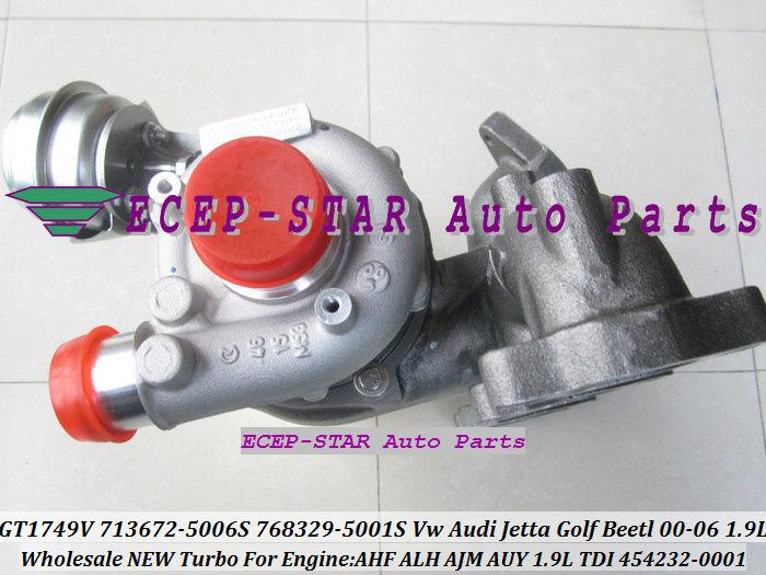 GT1749V 713672 713672-5006S 768329-5001S 454232-0001 For VW AUDI Jetta Golf Beetl 2000-06 1.9TDI AHF ALH AJM AUY 1.9L TDI (4)